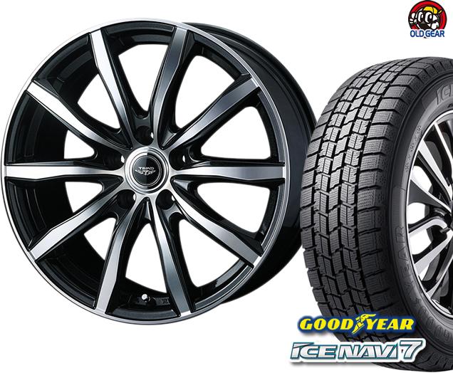 グッドイヤー アイスナビ7 155/65R13 スタッドレス タイヤ・ホイール 新品 4本セット ウェッズ テッド スイング パーツ バランス調整済み!