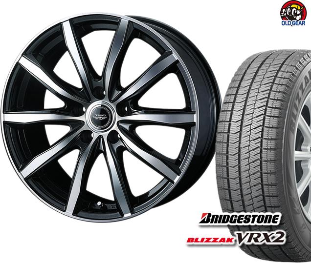ブリヂストン ブリザック VRX2 225/60R16 スタッドレス タイヤ・ホイール 新品 4本セット ウェッズ テッド スイング パーツ バランス調整済み!