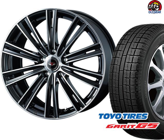 トーヨータイヤ ガリットG5 215/60R16 スタッドレス タイヤ・ホイール 新品 4本セット ウェッズ テッド スナップ パーツ バランス調整済み!
