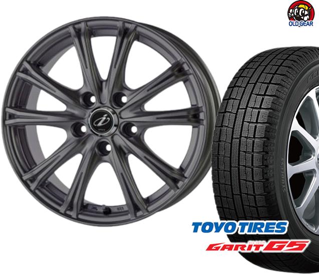トーヨータイヤ ガリットG5 155/65R14 スタッドレス タイヤ・ホイール 新品 4本セット 5ZIGEN インペリオ WV パーツ バランス調整済み!