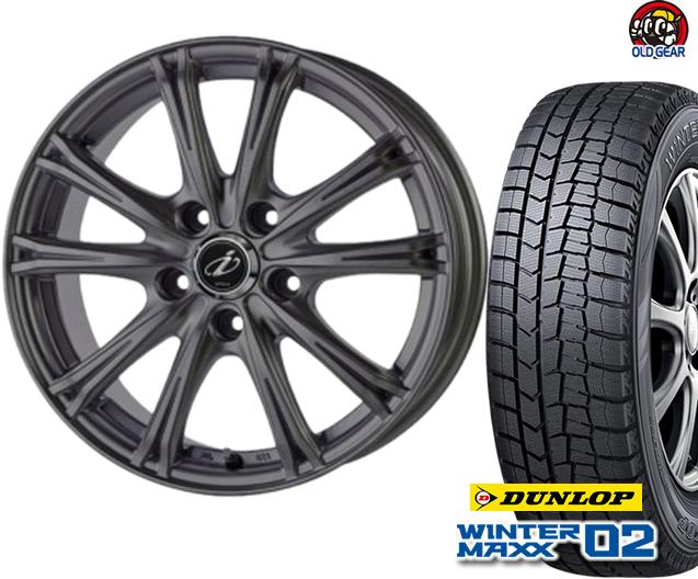 ダンロップ ウィンターマックス WM02 155/65R14 スタッドレス タイヤ・ホイール 新品 4本セット 5ZIGEN インペリオ WV パーツ バランス調整済み!