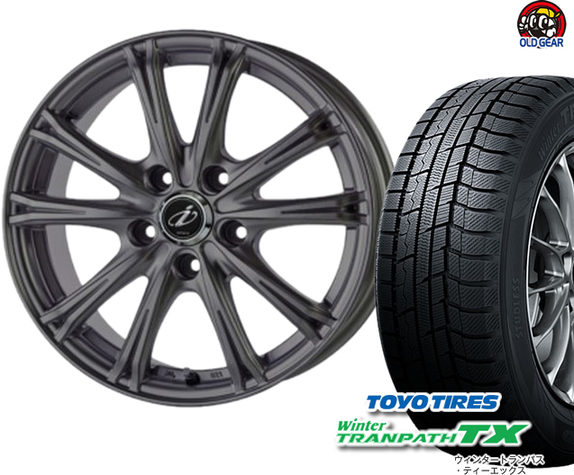 トーヨータイヤ ウィンタートランパスTX 195/65R15 スタッドレス タイヤ・ホイール 新品 4本セット 5ZIGEN インペリオ WV パーツ バランス調整済み!