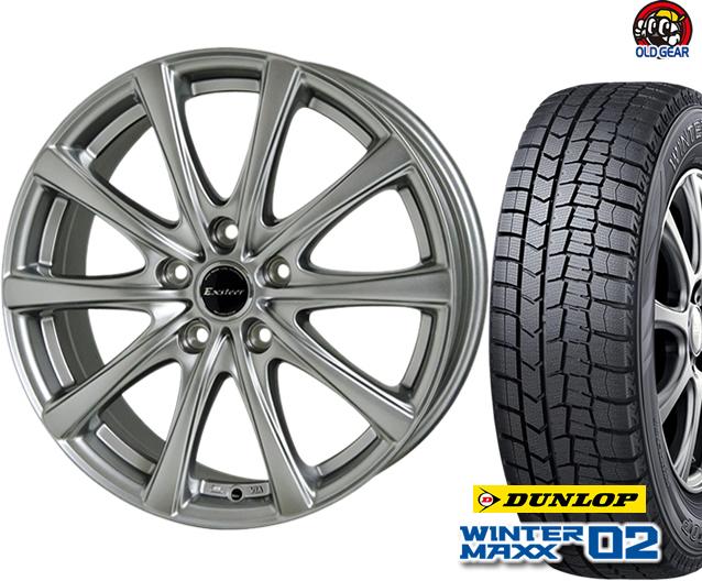 ダンロップ ウィンターマックス WM02 215/70R15 スタッドレス タイヤ・ホイール 新品 4本セット ホットスタッフ エクスター プラス2 パーツ バランス調整済み!