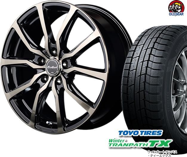 トーヨータイヤ ウィンタートランパスTX 225/45R18 スタッドレス タイヤ・ホイール 新品 4本セット ユーロスピード D.C.52 パーツ バランス調整済み!