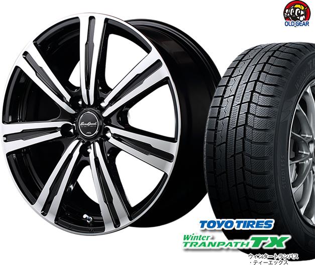 トーヨータイヤ ウィンタートランパスTX 205/65R15 スタッドレス タイヤ・ホイール 新品 4本セット ユーロスピード BC-7 パーツ バランス調整済み!