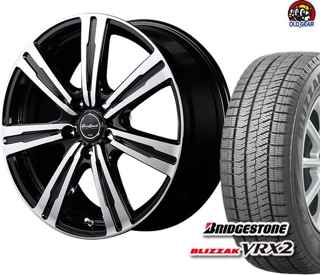 ブリヂストン ブリザック VRX2 165/70R14 スタッドレス タイヤ・ホイール 新品 4本セット ユーロスピード BC-7 パーツ バランス調整済み!