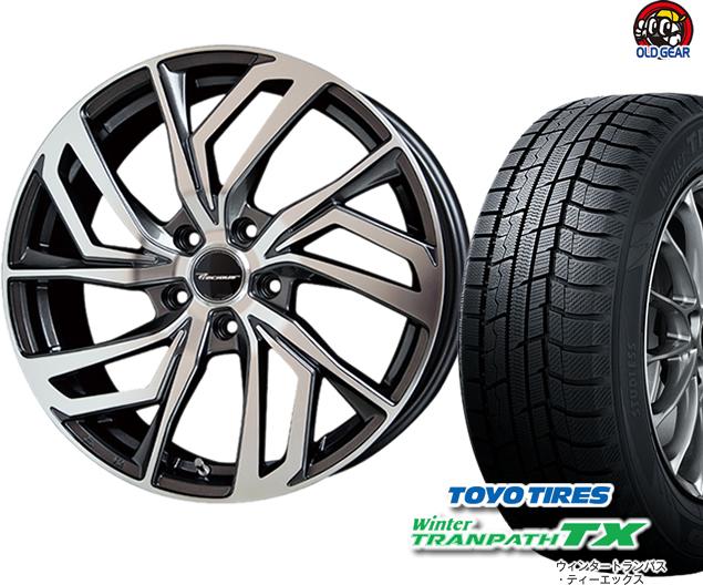 ホットスタッフ パーツ スタッドレス 4本セット C-1 プレシャス トーヨータイヤ バランス調整済み! 155/65R14 新品 ウィンタートランパスTX タイヤ・ホイール