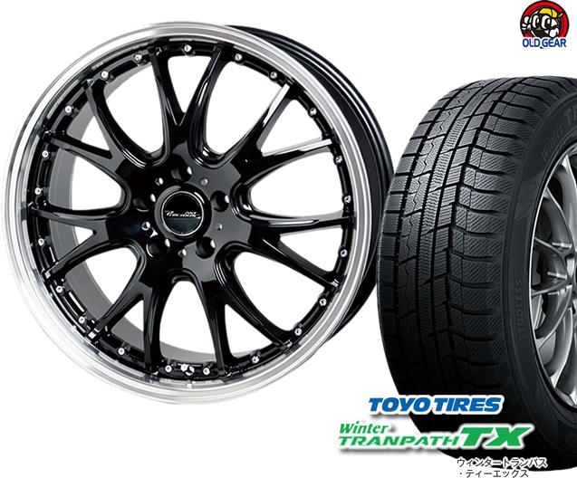 トーヨータイヤ ウィンタートランパスTX 225/60R17 スタッドレス タイヤ・ホイール 新品 4本セット ホットスタッフ プレシャス アスト M2 パーツ バランス調整済み!