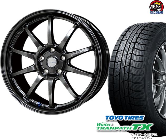 トーヨータイヤ ウィンタートランパスTX 225/50R18 スタッドレス タイヤ・ホイール 新品 4本セット ホットスタッフ クロススピード ハイパーエディションCR10 パーツ バランス調整済み!
