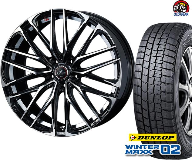 ダンロップ ウィンターマックス WM02 165/65R14 スタッドレス タイヤ・ホイール 新品 4本セット ウエッズ レオニスSK パーツ バランス調整済み!