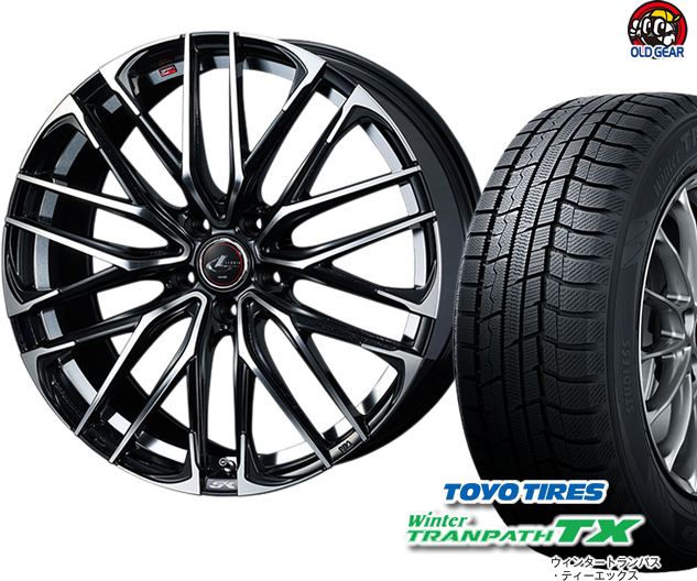 トーヨータイヤ ウィンタートランパスTX 165/60R15 スタッドレス タイヤ・ホイール 新品 4本セット ウエッズ レオニスSK パーツ バランス調整済み!