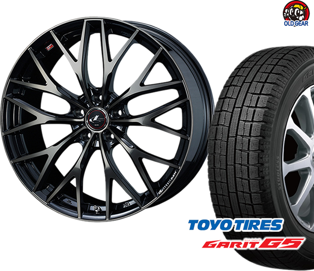 トーヨータイヤ ガリットG5 195/65R15 スタッドレス タイヤ・ホイール 新品 4本セット ウエッズ レオニス MX パーツ バランス調整済み!