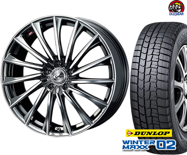 ダンロップ ウィンターマックス WM02 165/60R15 スタッドレス タイヤ・ホイール 新品 4本セット ウエッズ レオニス CH パーツ バランス調整済み!