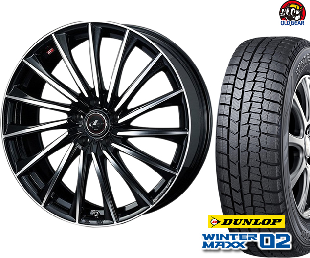 ダンロップ ウィンターマックス WM02 225/65R17 スタッドレス タイヤ・ホイール 新品 4本セット ウエッズ レオニス CH パーツ バランス調整済み!