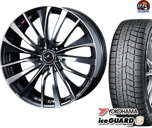 ヨコハマアイスガード6 ig60 175/60R16 スタッドレス タイヤ・ホイール 新品 4本セット ウエッズ レオニスVT パーツ バランス調整済み!