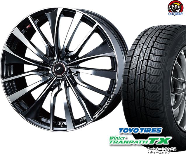 トーヨータイヤ ウィンタートランパスTX 225/50R18 スタッドレス タイヤ・ホイール 新品 4本セット ウエッズ レオニスVT パーツ バランス調整済み!