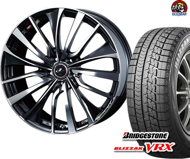 ブリヂストン ブリザック VRX 165/65R14 スタッドレス タイヤ・ホイール 新品 4本セット ウエッズ レオニスVT パーツ バランス調整済み!