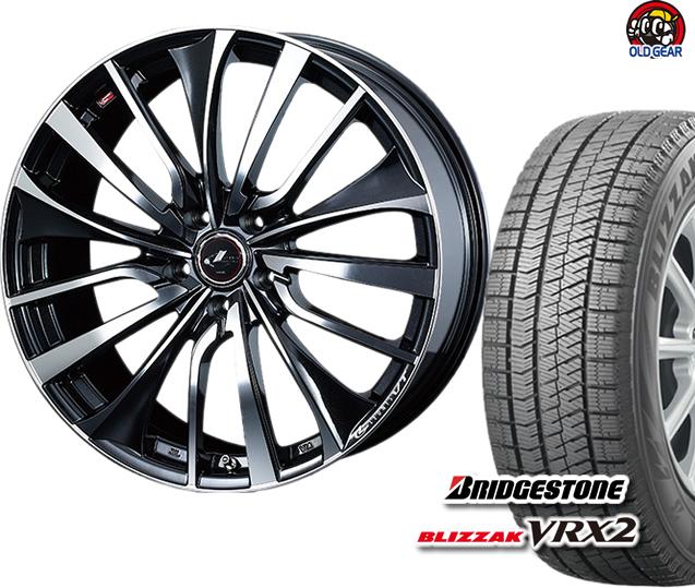 ブリヂストン ブリザック VRX2 235/40R18 スタッドレス タイヤ・ホイール 新品 4本セット ウエッズ レオニスVT パーツ バランス調整済み!