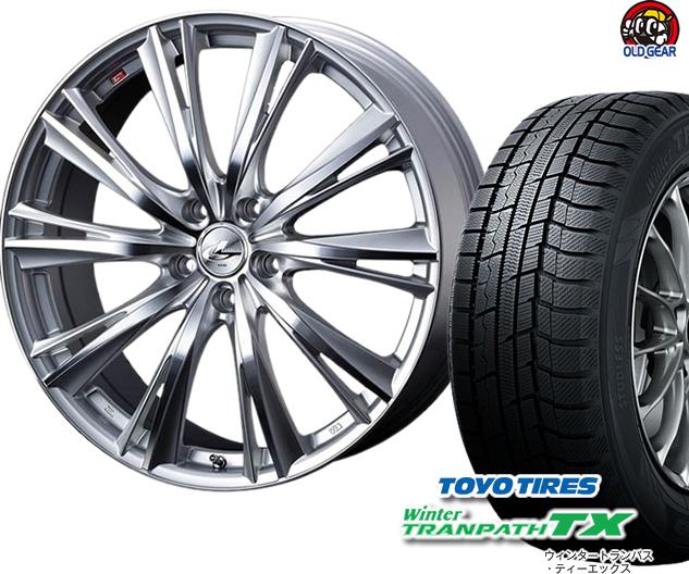トーヨータイヤ ウィンタートランパスTX 225/55R17 スタッドレス タイヤ・ホイール 新品 4本セット ウエッズ レオニスWX パーツ バランス調整済み!