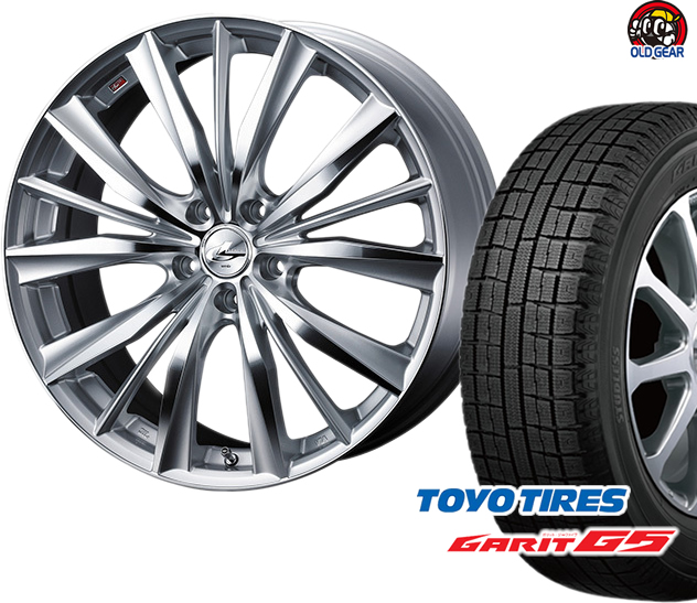 トーヨータイヤ ガリットG5 185/70R14 スタッドレス タイヤ・ホイール 新品 4本セット ウエッズ レオニスVX パーツ バランス調整済み!
