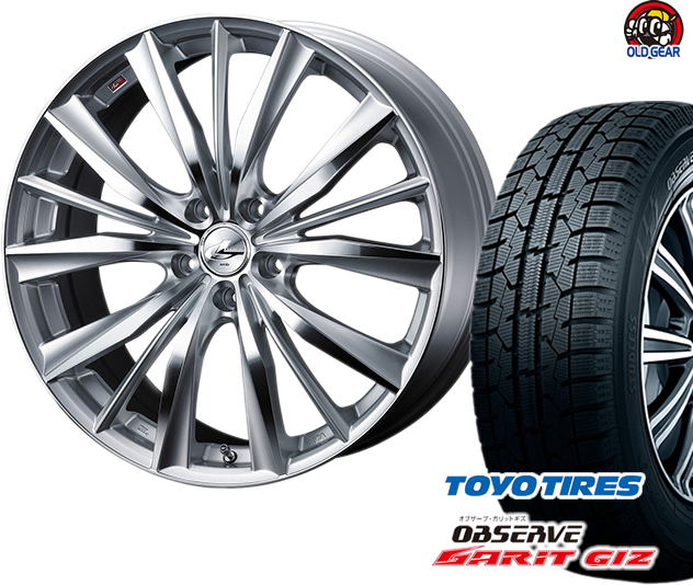 トーヨータイヤ ガリットGIZ 205/60R16 スタッドレス タイヤ・ホイール 新品 4本セット ウエッズ レオニスVX パーツ バランス調整済み!