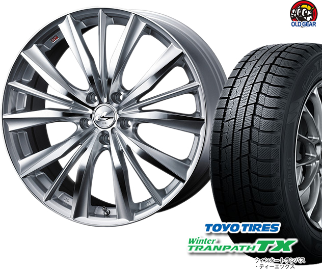 トーヨータイヤ ウィンタートランパスTX 185/65R15 スタッドレス タイヤ・ホイール 新品 4本セット ウエッズ レオニスVX パーツ バランス調整済み!