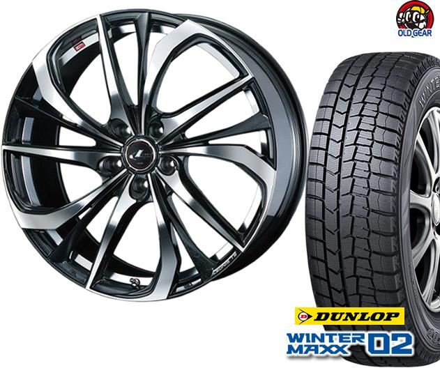 ダンロップ ウィンターマックス WM02 185/55R16 スタッドレス タイヤ・ホイール 新品 4本セット ウエッズ レオニスTE パーツ バランス調整済み!