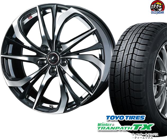 トーヨータイヤ ウィンタートランパスTX 225/55R17 スタッドレス タイヤ・ホイール 新品 4本セット ウエッズ レオニスTE パーツ バランス調整済み!