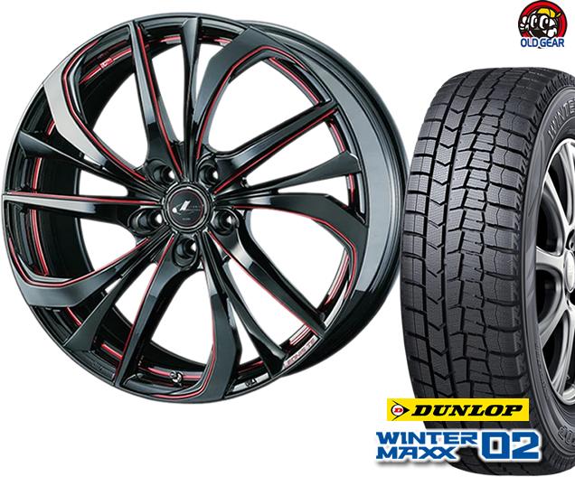 ダンロップ ウィンターマックス WM02 165/50R16 スタッドレス タイヤ・ホイール 新品 4本セット ウエッズ レオニスTE パーツ バランス調整済み!