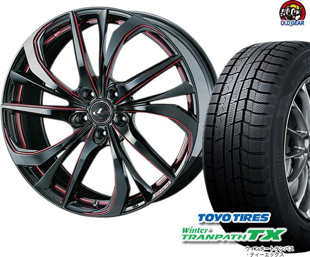 トーヨータイヤ ウィンタートランパスTX 225/50R18 スタッドレス タイヤ・ホイール 新品 4本セット ウエッズ レオニスTE パーツ バランス調整済み!