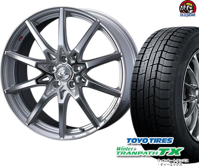 トーヨータイヤ ウィンタートランパスTX 165/60R15 スタッドレス タイヤ・ホイール 新品 4本セット ウエッズ レオニス・エスブイ SV パーツ バランス調整済み!
