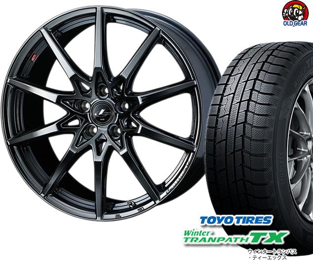 トーヨータイヤ ウィンタートランパスTX 225/45R18 スタッドレス タイヤ・ホイール 新品 4本セット ウエッズ レオニス・エスブイ SV パーツ バランス調整済み!