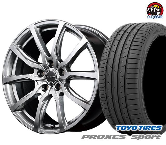 マルカ ユーロスピードG52 タイヤ・ホイール 新品 4本セット トーヨー プロクセス スポーツ 205/50R17 パーツ バランス調整済み!