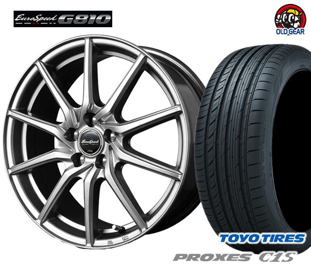 マルカ ユーロスピードG810 タイヤ・ホイール 新品 4本セット トーヨー プロクセスC1S 205/60R16 パーツ バランス調整済み!