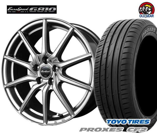 マルカ ユーロスピードG810 タイヤ・ホイール 新品 4本セット トーヨー プロクセス CF2 205/50R17 パーツ バランス調整済み!