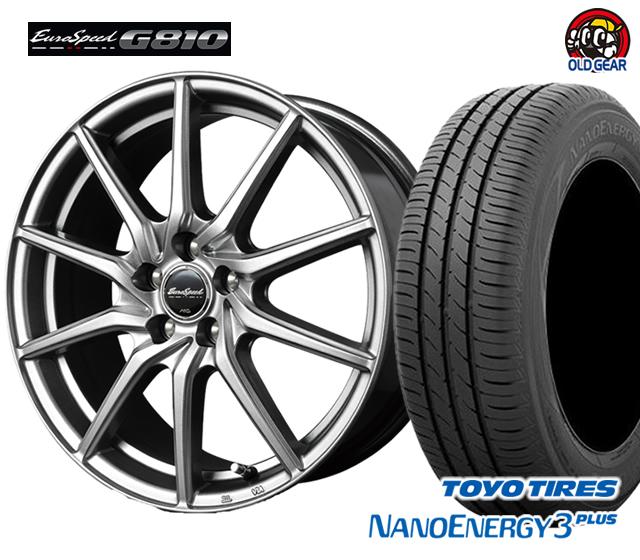 マルカ ユーロスピードG810 タイヤ・ホイール 新品 4本セット トーヨー ナノエナジー3プラス 225/50R18 パーツ バランス調整済み!
