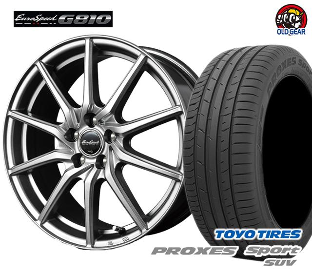 マルカ ユーロスピードG810 タイヤ・ホイール 新品 4本セット トーヨー プロクセス・スポーツSUV 215/55R17 パーツ バランス調整済み!