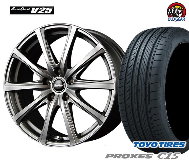 マルカ ユーロスピードV25 タイヤ・ホイール 新品 4本セット トーヨー プロクセスC1S 205/65R16 パーツ バランス調整済み!
