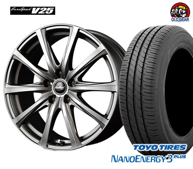 マルカ ユーロスピードV25 タイヤ・ホイール 新品 4本セット トーヨー ナノエナジー3プラス 215/55R17 パーツ バランス調整済み!