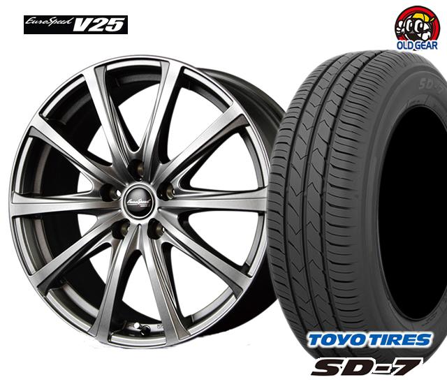 マルカ ユーロスピードV25 タイヤ・ホイール 新品 4本セット トーヨー SD7 175/65R14 パーツ バランス調整済み!