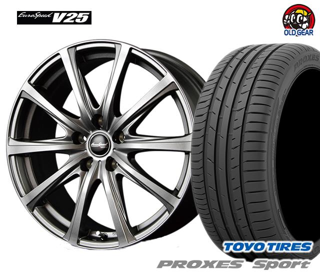 マルカ ユーロスピードV25 タイヤ・ホイール 新品 4本セット トーヨー プロクセス・スポーツ 205/50R17 パーツ バランス調整済み!