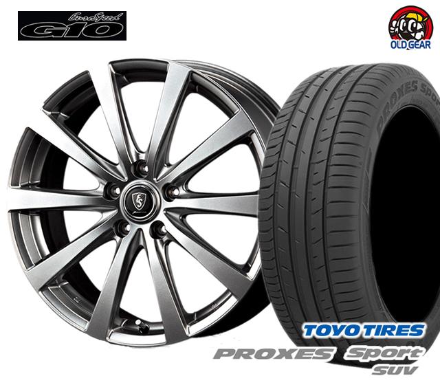 マルカ  ユーロスピードG10 タイヤ・ホイール 新品 4本セット トーヨー プロクセススポーツSUV 235/60R18 パーツ バランス調整済み!