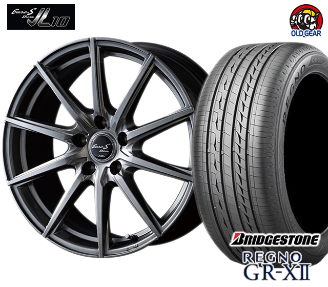 マルカ ユーロストリーム JL10 タイヤ・ホイール 新品 4本セット ブリヂストン レグノ GR-X2 F225/40R18・R235/40R18 パーツ バランス調整済み!