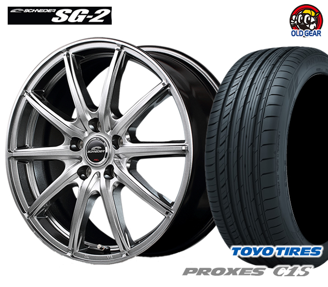 マルカ シュナイダー SG-2 タイヤ・ホイール 新品 4本セット トーヨー プロクセスC1S 205/55R16 パーツ バランス調整済み!