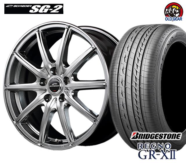 マルカ シュナイダー SG-2 タイヤ・ホイール 新品 4本セット ブリヂストン レグノ GR-X2 245/40R18 パーツ バランス調整済み!