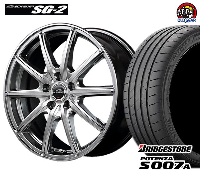 マルカ シュナイダー SG-2 タイヤ・ホイール 新品 4本セット ブリヂストン ポテンザS007A 225/40R18 パーツ バランス調整済み!