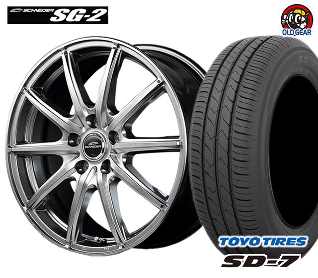 マルカ シュナイダー SG-2 タイヤ・ホイール 新品 4本セット トーヨー SD7 155/70R13 パーツ バランス調整済み!