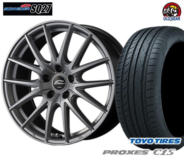 マルカ シュナイダー SQ27 タイヤ・ホイール 新品 4本セット トーヨー プロクセスC1S 205/60R16 パーツ バランス調整済み!