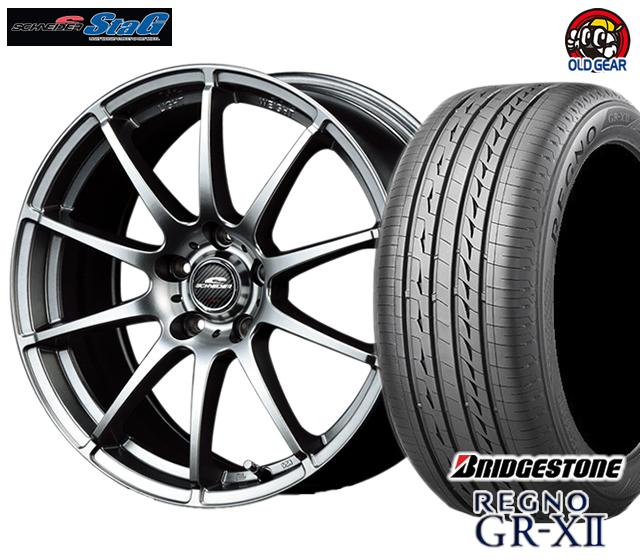 シュナイダー スタッグ タイヤ・ホイール 新品 4本セット ブリヂストン レグノ GR-X2 245/40R18 パーツ バランス調整済み!