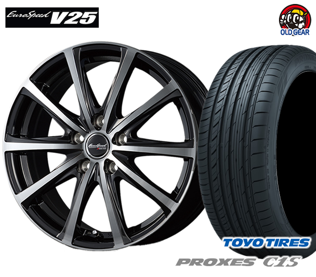 マルカ ユーロスピードV25 タイヤ・ホイール 新品 4本セット トーヨー プロクセスC1S 215/60R16 パーツ バランス調整済み!